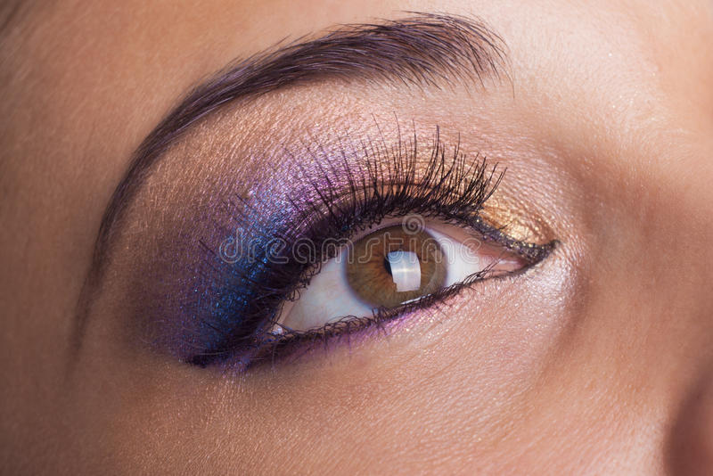 Fantastic make up eye stock images