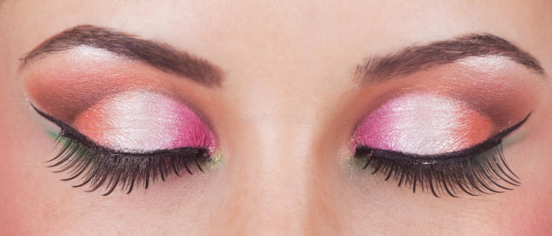 Fantastic make up eye stock photo