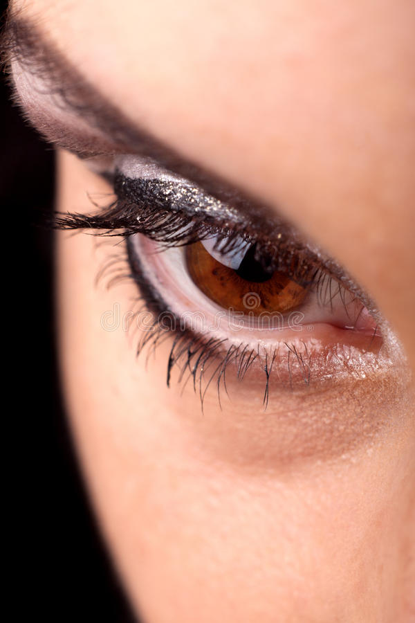 Fantastic make up eye stock image