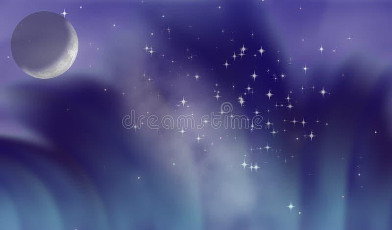 fantastic moon διανυσματική απεικόνιση