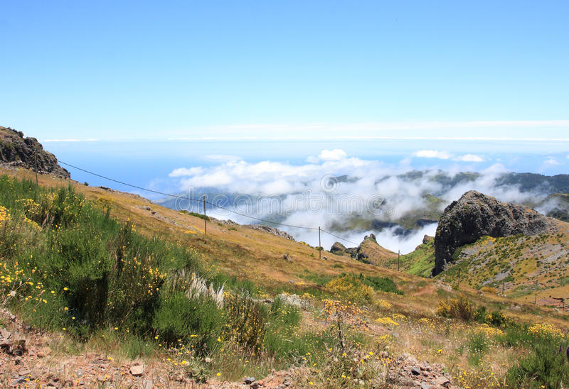Fantastic Mountain View In Madeira Royalty Free Stock Photo