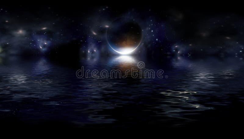 Fantastic night landscape royalty free illustration