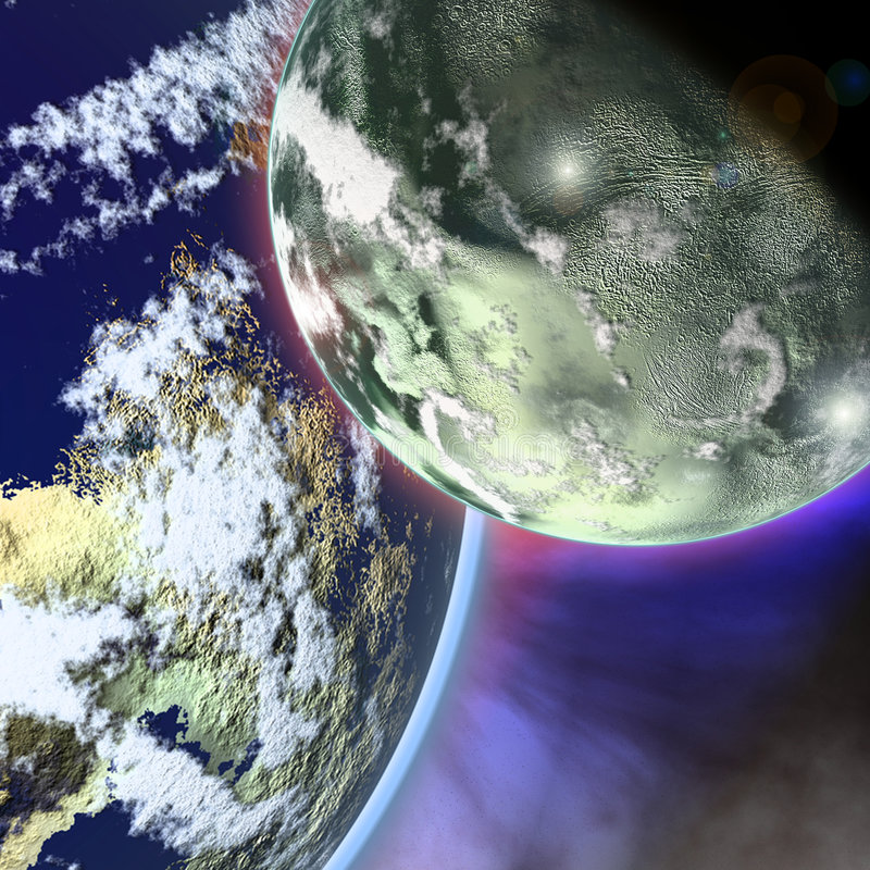 Fantastic planets. royalty free stock photography