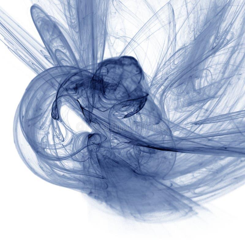 Fantastic play of dynamic light translucent smoke. Fractal art graphics stock images
