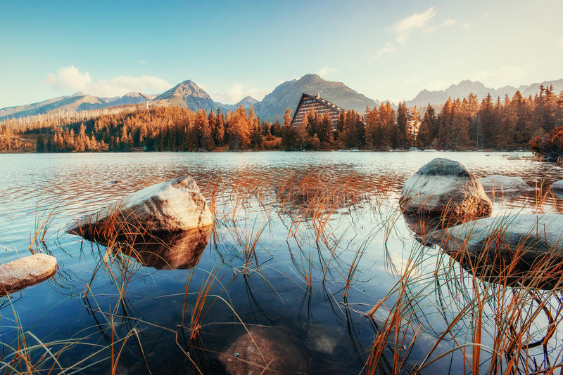 Fantastic Shtrbske Pleso High Tatras. Slovakia, Europe. Fantastic Shtrbske Pleso High Tatras. Slovakia Europe royalty free stock photos