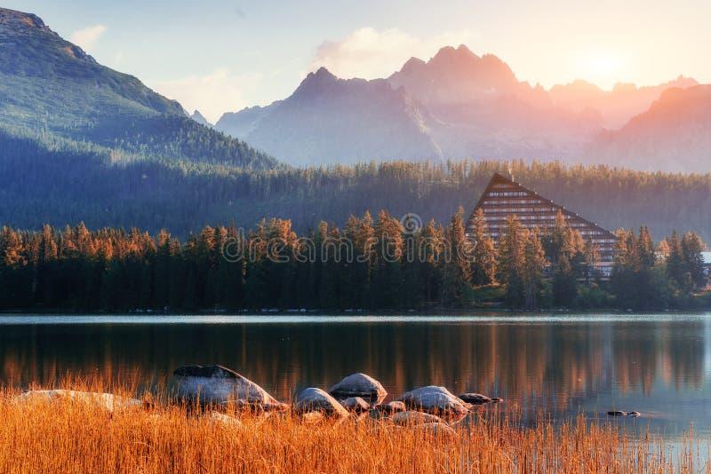 Fantastic Shtrbske Pleso High Tatras. Slovakia, Europe. Fantastic Shtrbske Pleso High Tatras. Slovakia Europe royalty free stock images