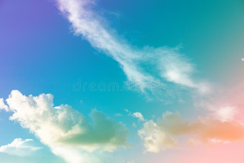 Fantastic sky and colorful clouds. Amazing, background, beautiful, beauty, blue, bright, cloudy, dawn, dusk, environment, evening, fantasy, heaven, holiday royalty free stock images