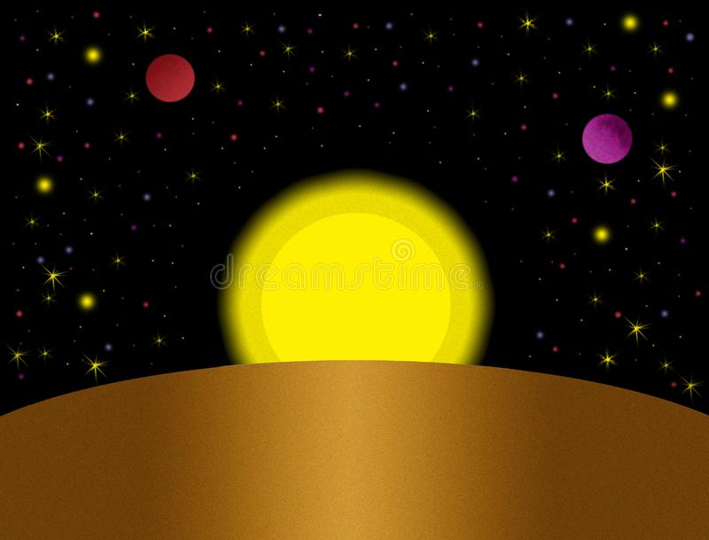 Download Fantastic space stock illustration. Image of star, fantastic - 4873429