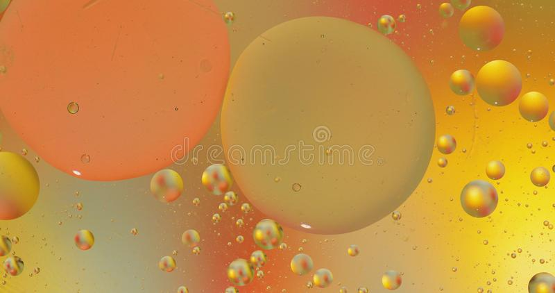 Fantastic structure of colorful bubbles. Abstract multicolored background. Macro. Fantastic structure of colorful bubbles. Abstract colorful paint. Top view stock photo