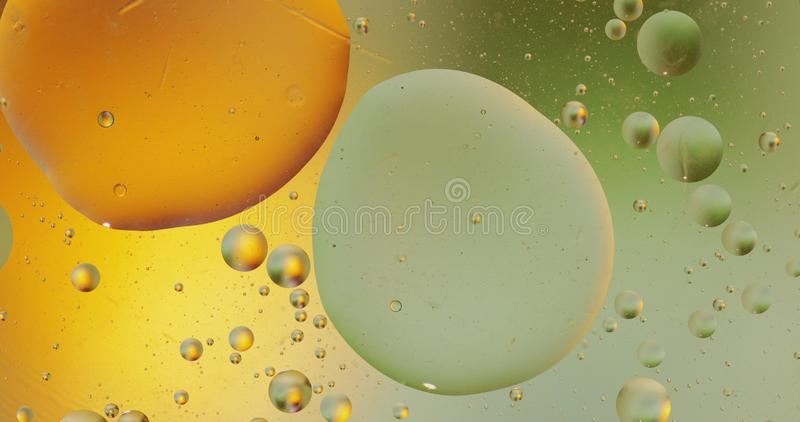 Fantastic structure of colorful bubbles. Abstract multicolored background. Macro. Fantastic structure of colorful bubbles. Abstract colorful paint. Top view stock image