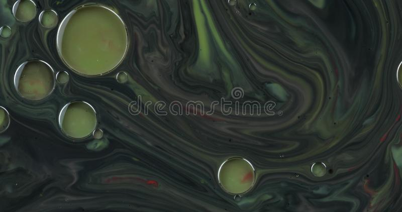 Fantastic structure with colorful bubbles. Abstract multicolored background. Fantastic structure with colorful bubbles. Abstract colorful paint. Top view stock image