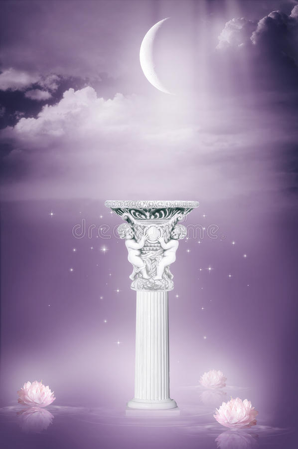 Download Decorative column stock illustration. Image of card, mysterious - 11586122