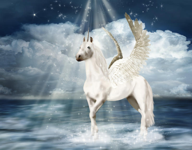 Fantastic unicorn stock illustration