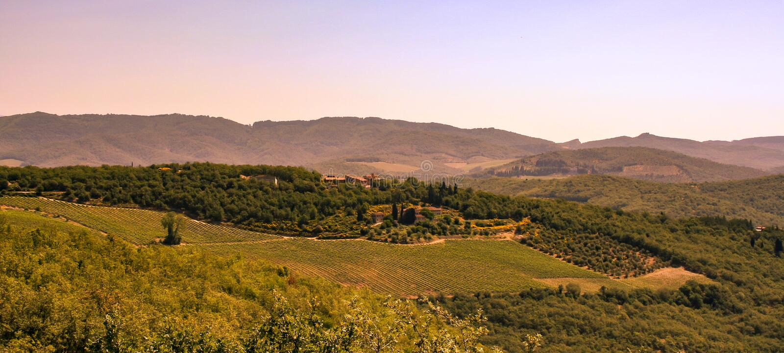 Fantastic view of an Italy manor on sunny day royalty free stock photography