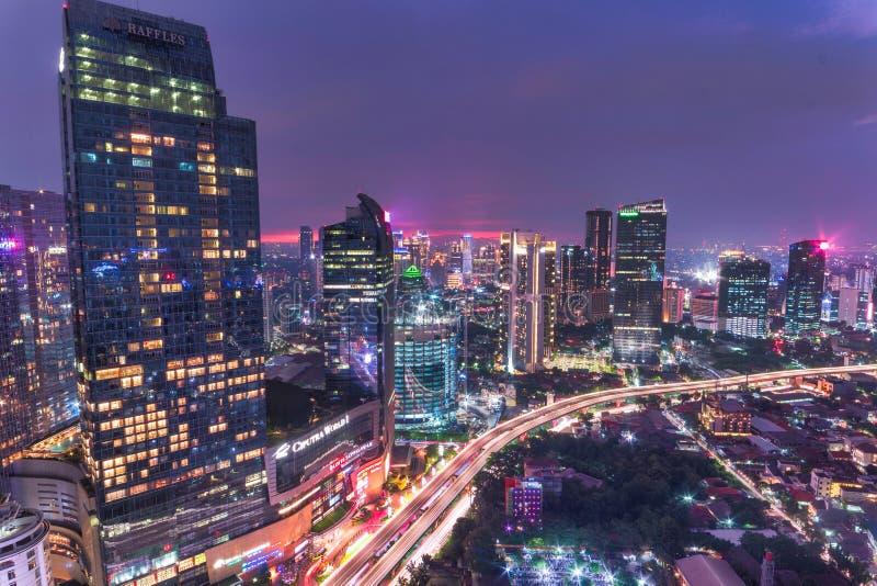 Fantastic View In Mega Kuningan Jakarta Editorial Stock Photo - Image of light, architecture: 186912008