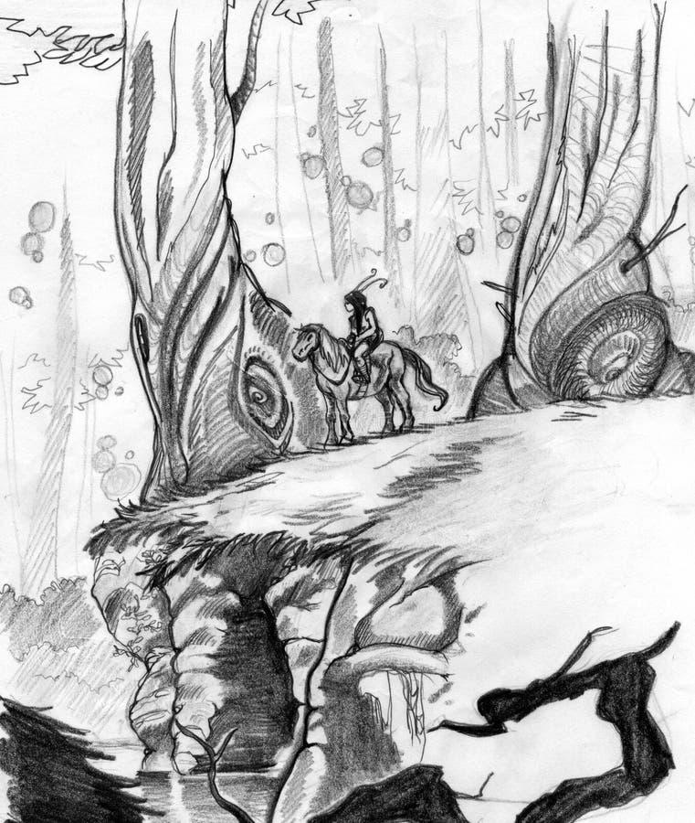 Download Fantastic wood stock illustration. Illustration of exploration - 8812677