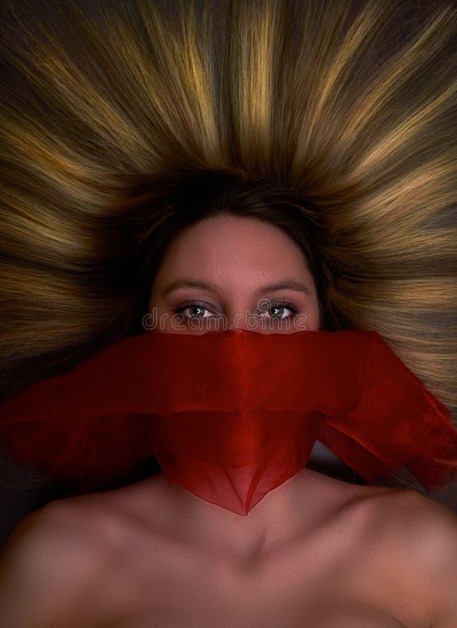 Fantasticare la donna di mistero fotografie stock