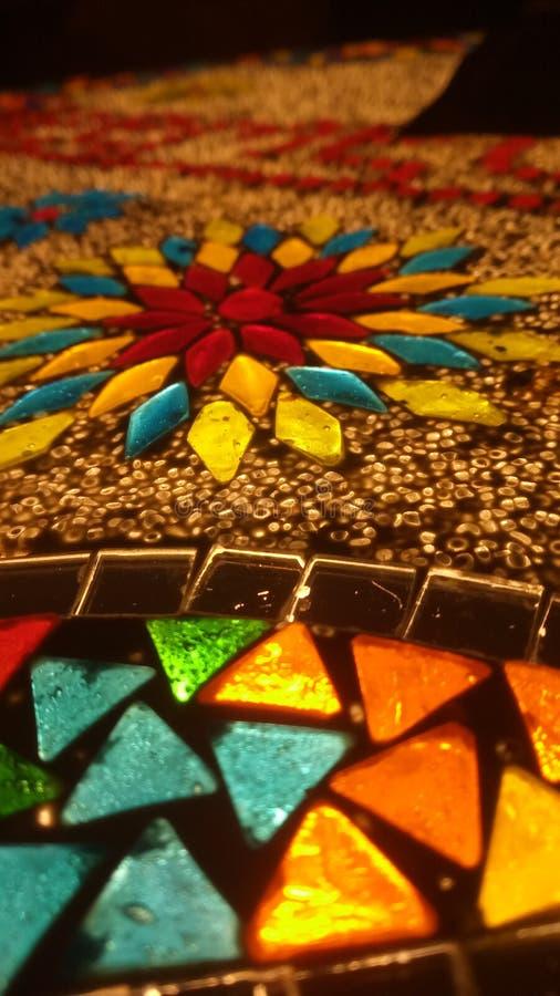 Fantastique éclairage de style arabe de couleurs mixtes images libres de droits