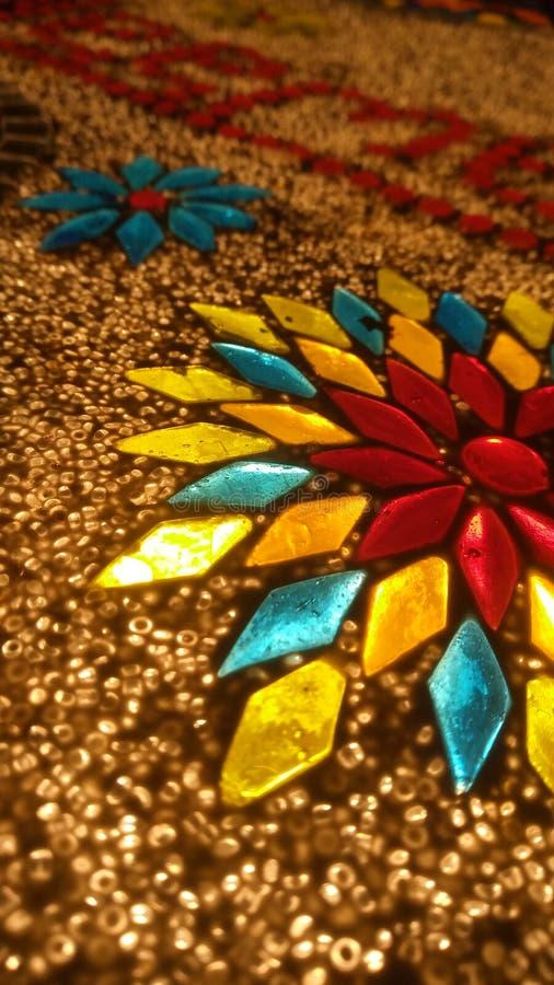 Fantastique éclairage de style arabe de couleurs mixtes photographie stock libre de droits