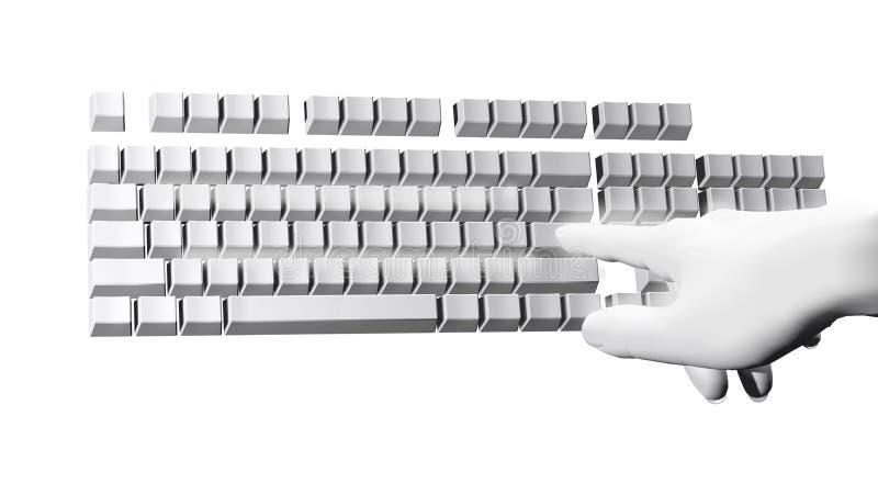 Fantastique remettez le clavier d'ordinateur illustration libre de droits