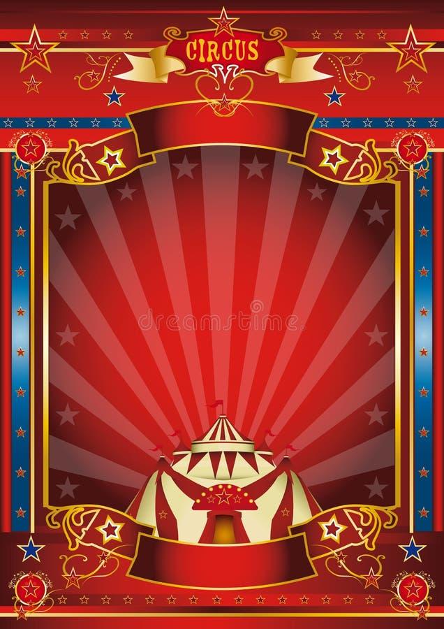Fantastisch affichecircus. royalty-vrije illustratie