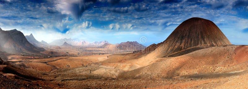 Fantastisch landschap stock afbeelding