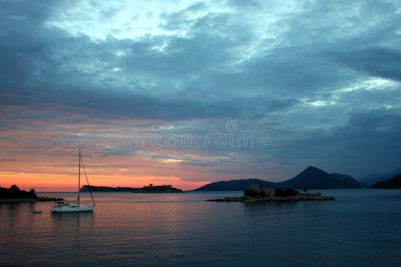 Fantastisch landschap, Schiereiland Lustica, Montenegro stock foto
