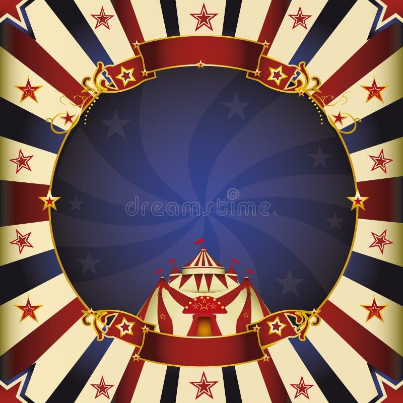 Fantastisch nacht vierkant circus vector illustratie