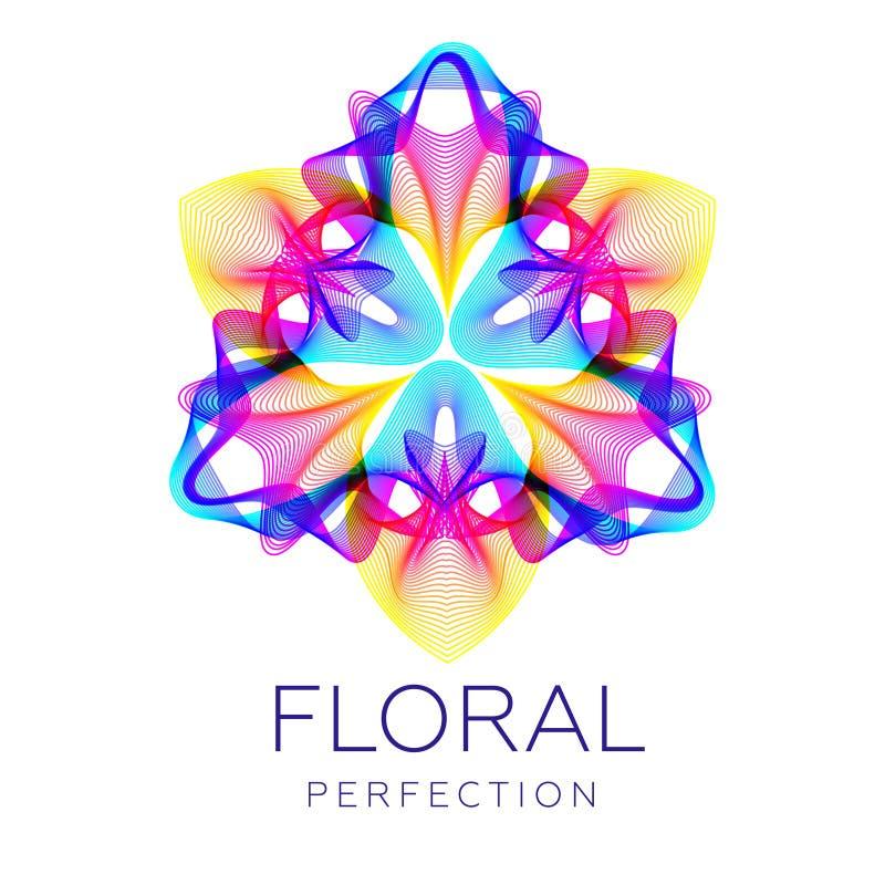 Fantastische Blume, abstrakte Form mit vielen Mischung zeichnet vektor abbildung