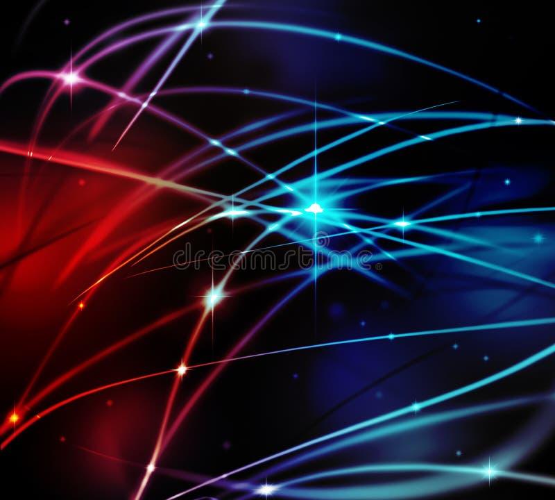 Fantastische lichte lijn vector illustratie