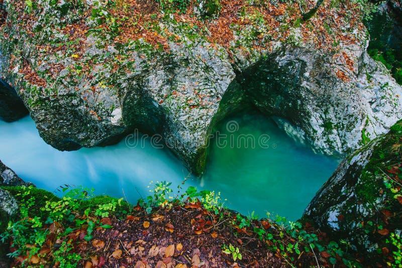 Fantastische mening van de canion Mostnica (Mostnice Korita) royalty-vrije stock foto's