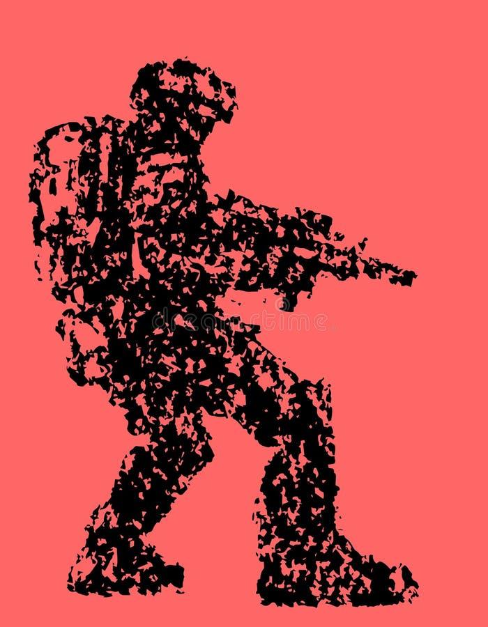 Fantastische militairdoelstellingen van plasmageweer Vector illustratie stock illustratie