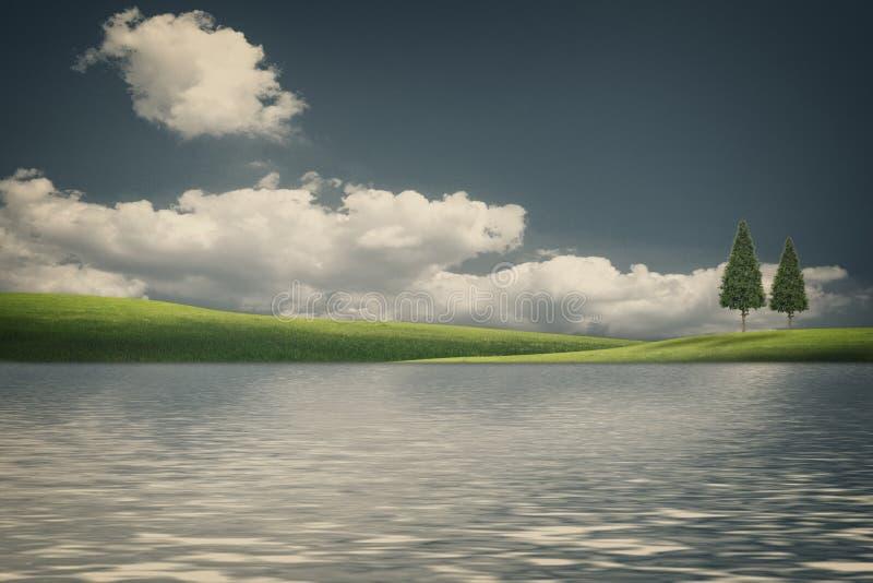 Fantastische Naturlandschaft mit Schönheitshügeln lizenzfreies stockfoto