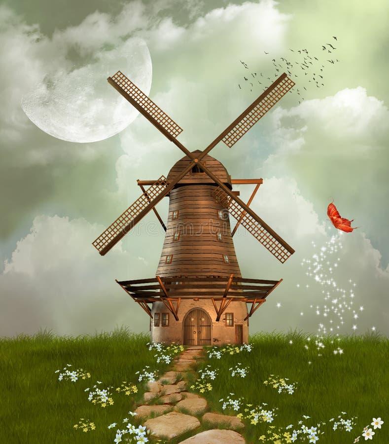 Fantastische Windmühle vektor abbildung