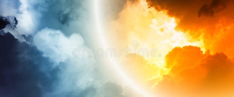 Fantastische zonsondergang stock illustratie
