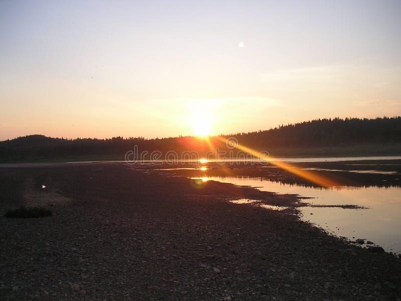 Fantastische zonsondergang stock afbeelding