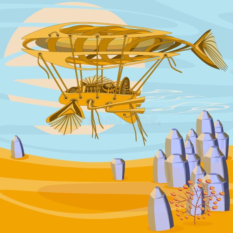 Fantastischer Fliegenmechanismus vektor abbildung