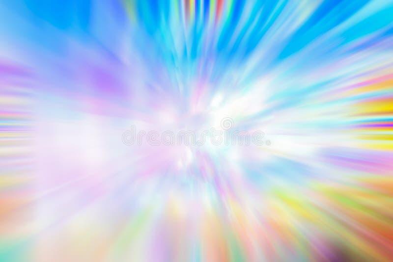 Fantastischer Fractalhintergrund Zusammenfassungs-helles Goldenes, blau, Rosa und purpurrote chaotische Formen Farbiger Hintergru lizenzfreie abbildung