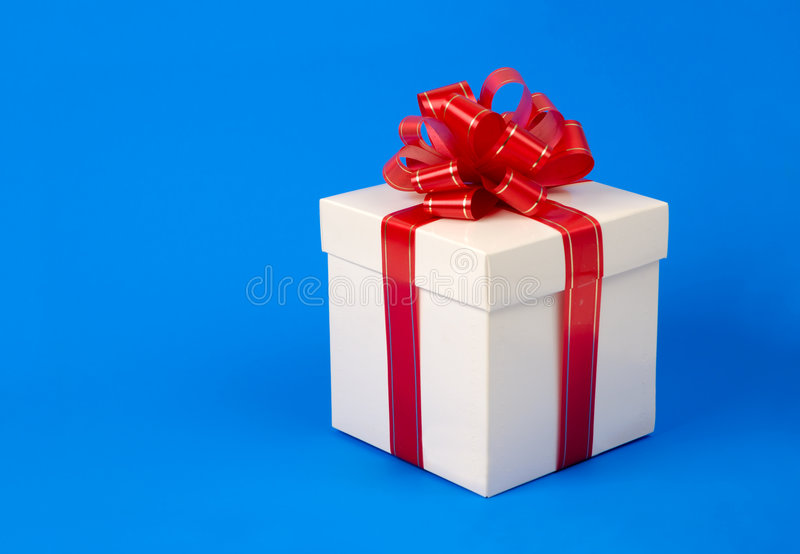 Fantastischer Geschenkkasten stockbild