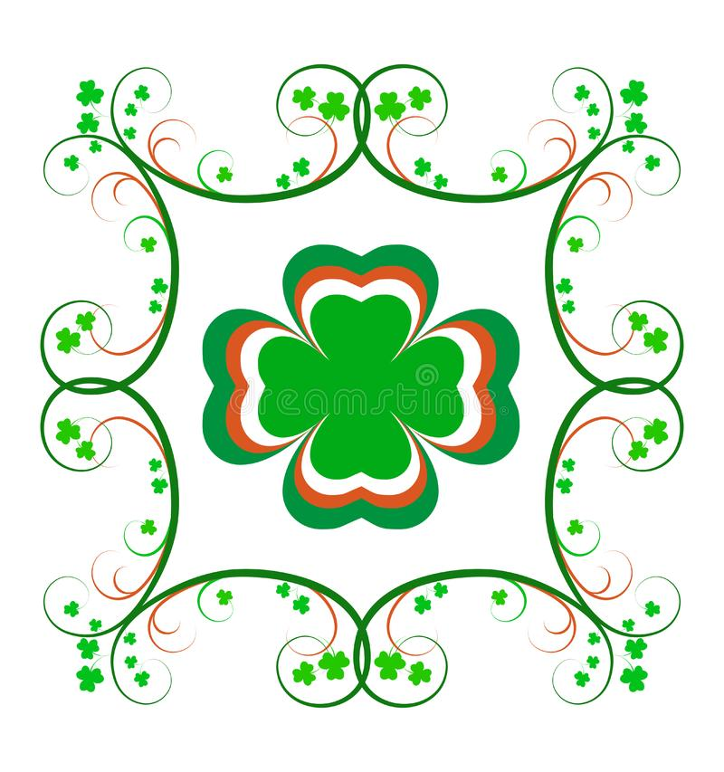 Fantastischer irischer Shamrock-Rahmen lizenzfreies stockbild