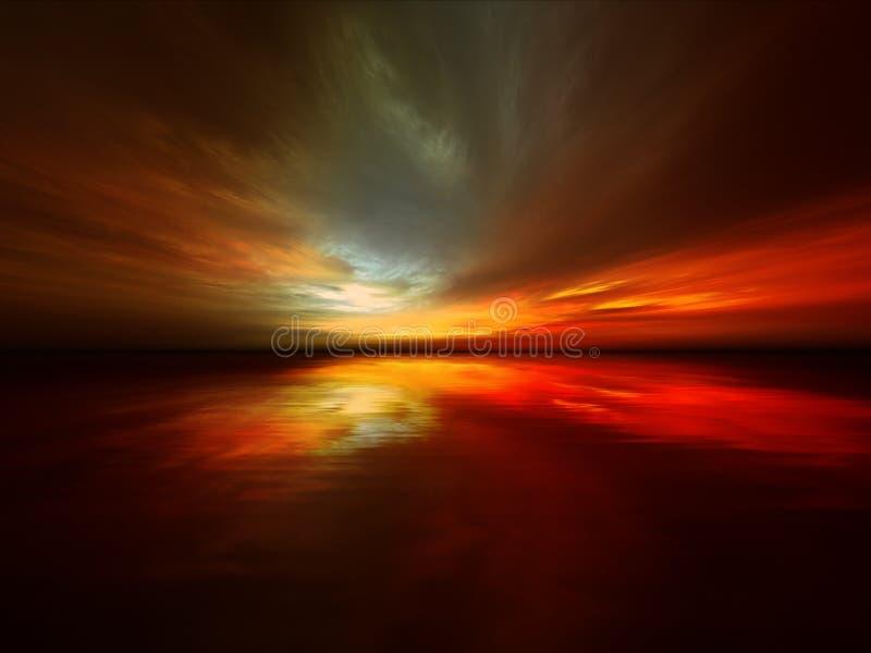 Fantastischer Sonnenuntergang vektor abbildung