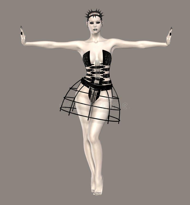 Fantastischer Tänzer lizenzfreie abbildung