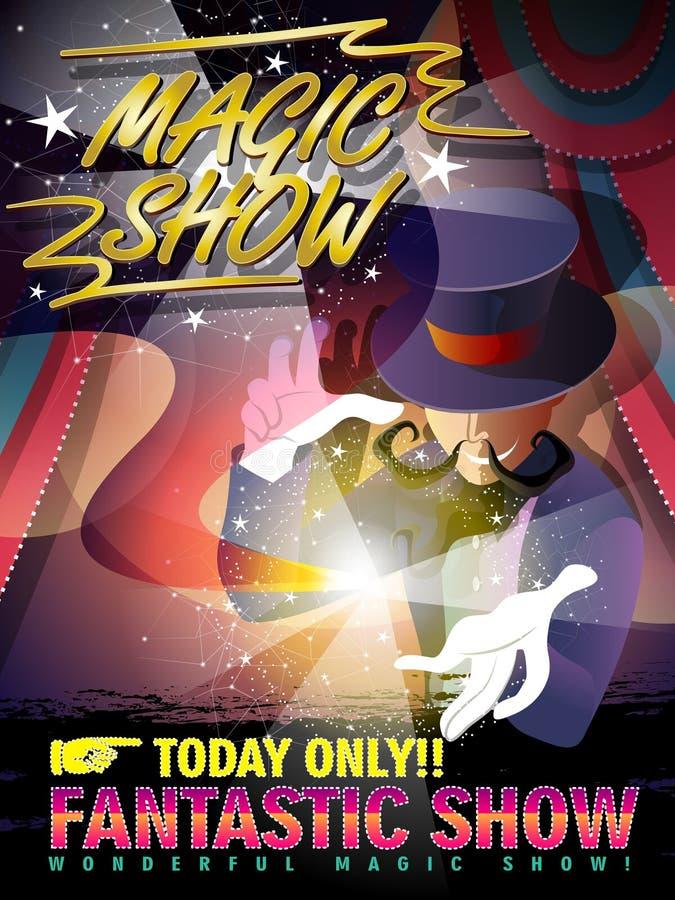 Fantastisches magisches Showplakat lizenzfreie abbildung