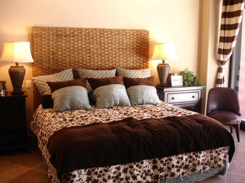 Fantastisches Schlafzimmer stockfoto