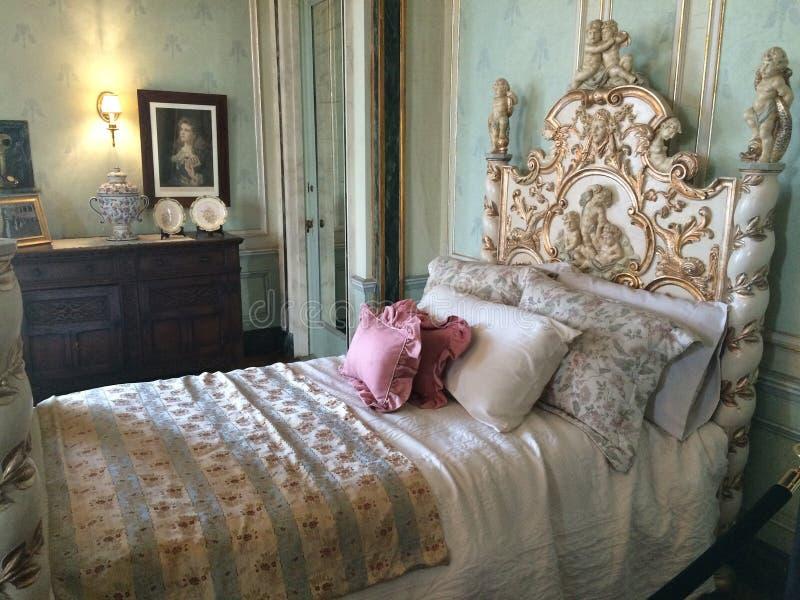 Fantastisches Schlafzimmer in der Casa Loma Canada stockfoto