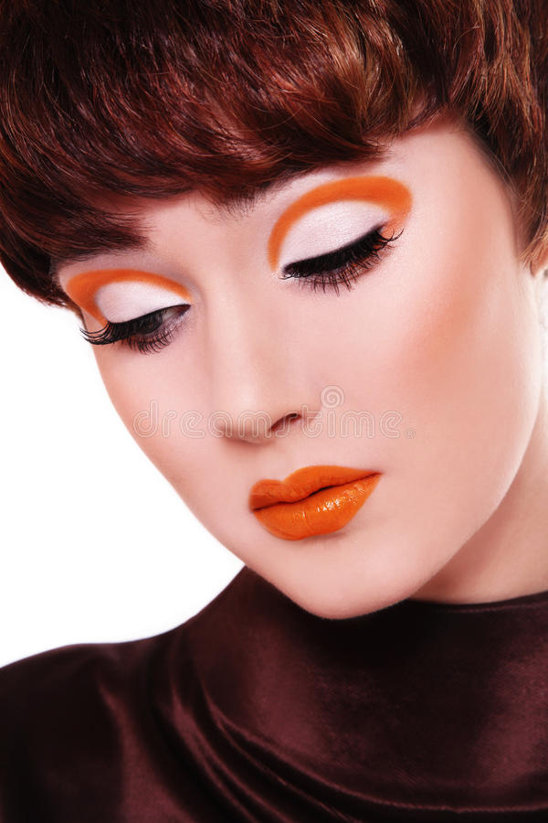 Fantastisches Weinlesemake-up lizenzfreies stockbild