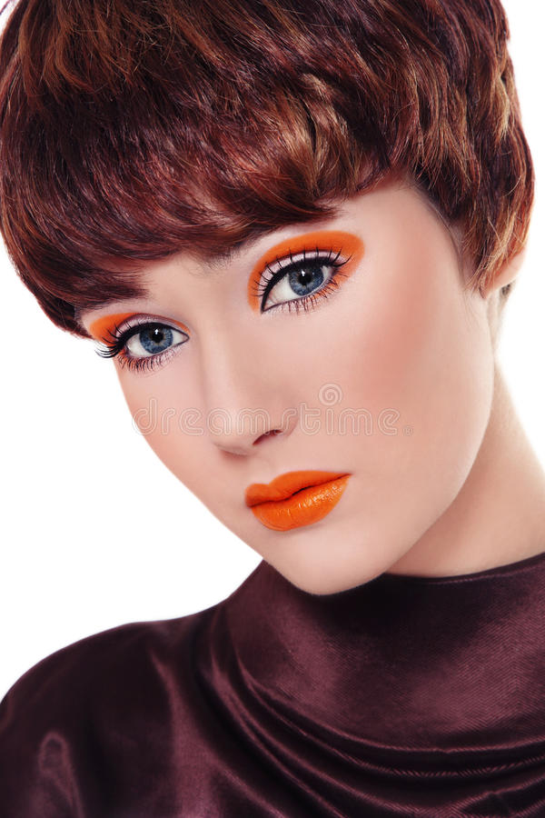 Fantastisches Weinlesemake-up lizenzfreie stockfotos