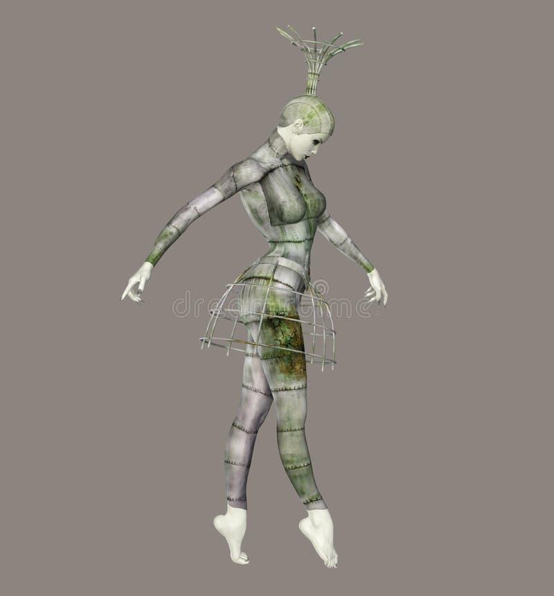 fantastisk ballerina vektor illustrationer