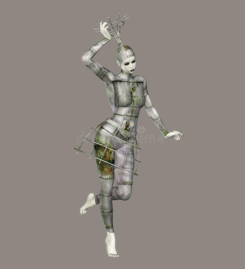 fantastisk ballerina stock illustrationer
