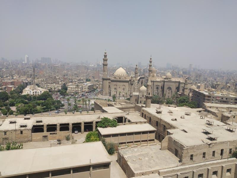 Fantastisk Egypten slott royaltyfria bilder